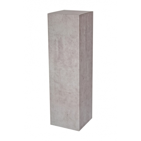 socle carton couleur beton, 28,5 x 28,5 x 100 cm (lxLxh)