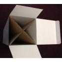 socle carton blanc, 30 x 30 x 60 cm (lxLxh)