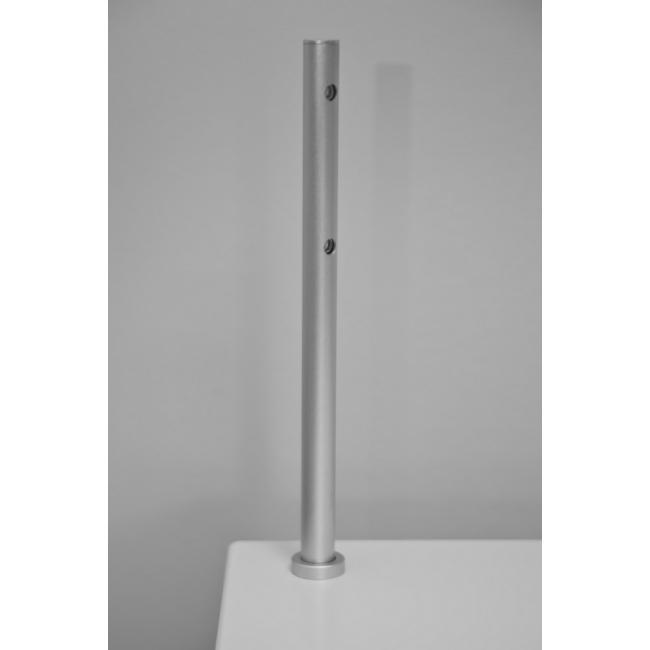 spot LED, type 7, 216 mm, 2x1W, Argent (avec alimentation électrique)