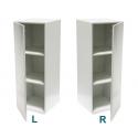 socle armoire blanc (porte et etagères), 40 x 40 x 100 cm (lxLxh)