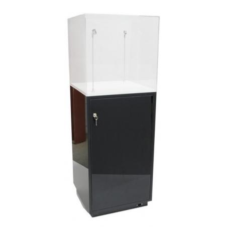 socle armoire noir brillant (porte et etagères), 40 x 40 x 100 (lxLxh)