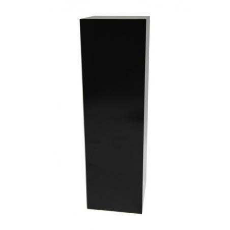 socle noir brillant, 50 x 50 x 100 cm (lxLxh)