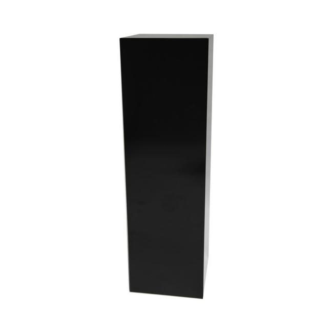 socle noir brillant, 40 x 40 x 100 cm (lxLxh)