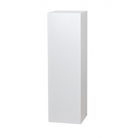 socle blanc 25 x 25 x 115 cm (lxlxh)