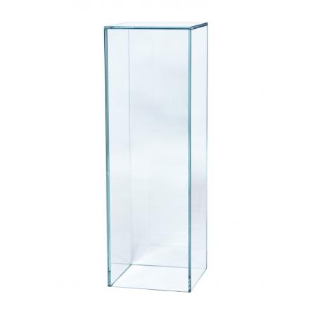 socle verre, 25 x 25 x 80 cm (lxLxh)