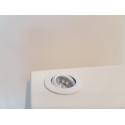 spot LED sur tige par pièce, type 7, 216 mm, 2x1W, couleur argent (installation comprise)