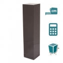 socle granite poli, coupé d onglet, sur mesure