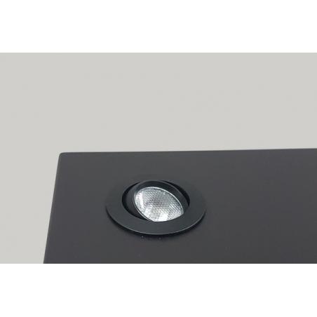 spot LED sur tige par pièce, type 7L, 405 mm, 4x1W, couleur argent (installation comprise)