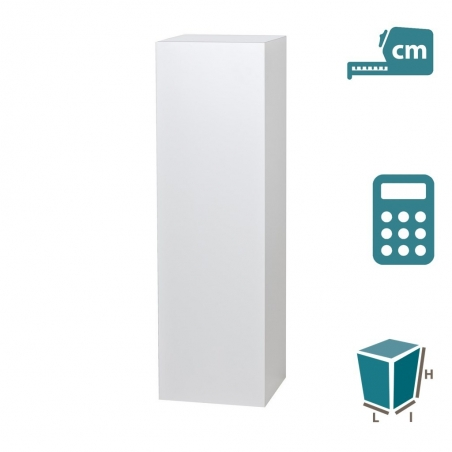 Socle MDF blanc brillant, sur mesure