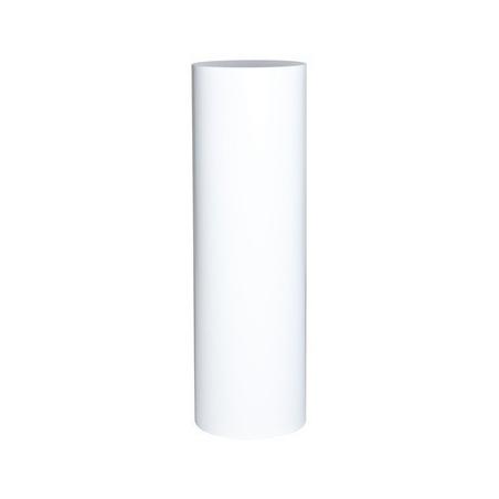 socle rond blanc, 63 x 100 cm (diamètre x hauteur)