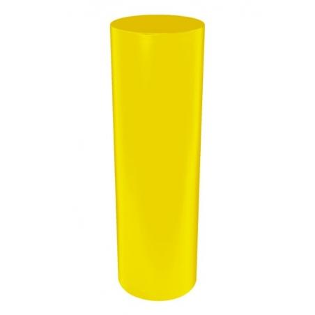 socle rond coloré, 63 x 100 cm (diamètre x hauteur)