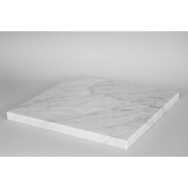 Top marbre blanc (Carrara, 20mm), 40 x 40 cm