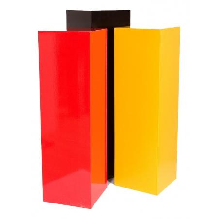 socle coloré, 25 x 25 x 100 cm (lxLxh)