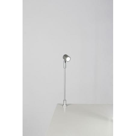 Spot LED, Type 1, 216 mm, 1W, 6000K, Argent (avec alimentation électrique)