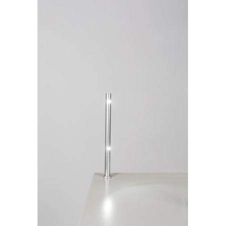 spot LED, type 7, 216 mm, 2x1W, 6000K, Argent (avec alimentation électrique)