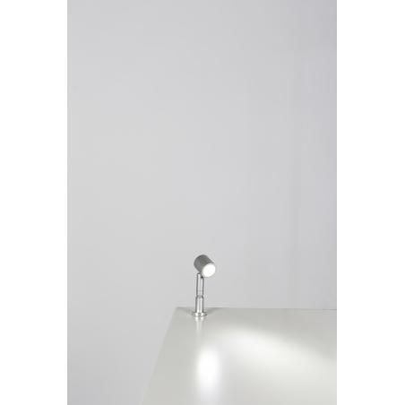 spot LED sur tige par pièce, type 9, 1W, couleur argent (installation comprise)