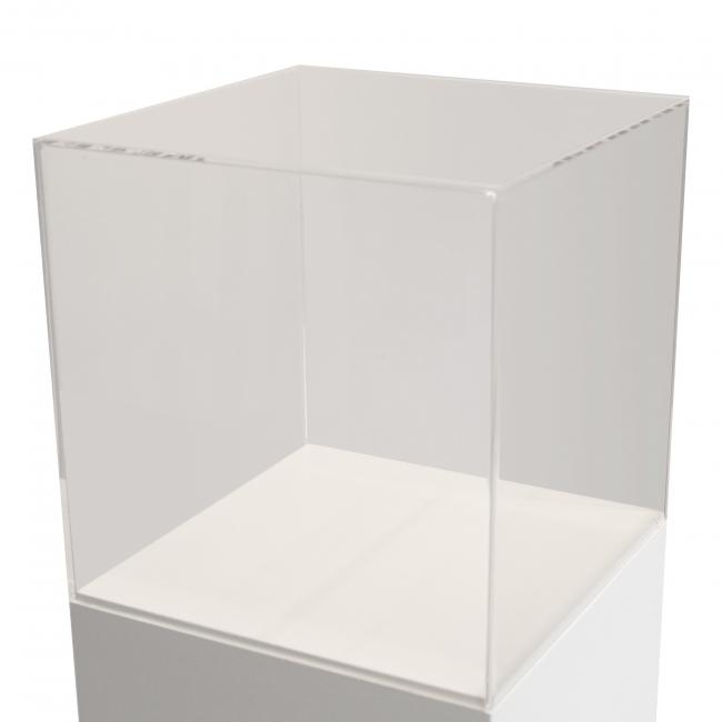 vitrine en plexiglas, 20 x 20 x 20 cm (lxLxh)