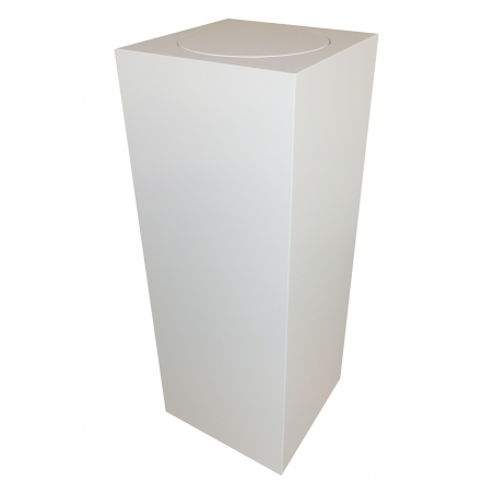 socle blanc avec plateau rotatif, 30 x 30 x 100 cm (lxLxh)