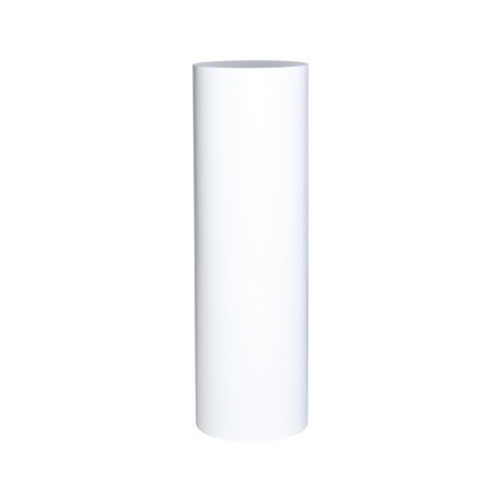 socle rond blanc, Ø 50 x 100 cm (h)