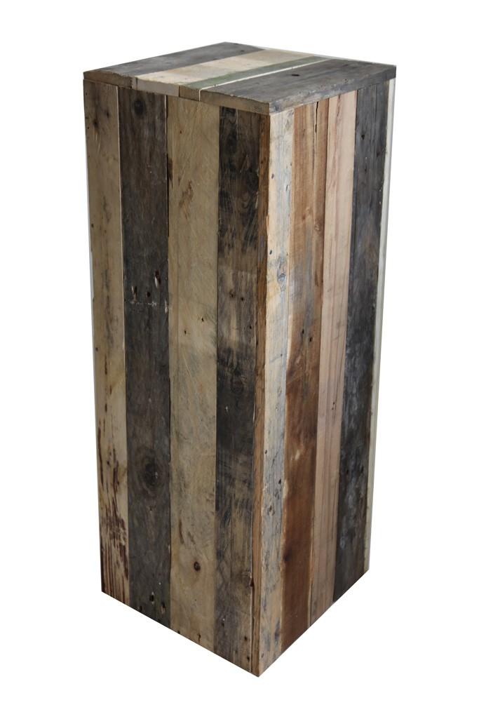 Socle bois recyclé